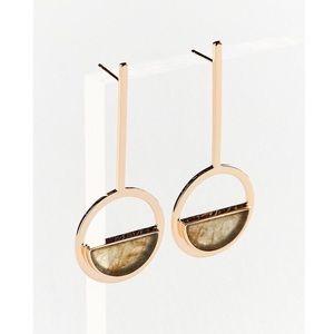 Elizabeth Stone Moon Gazer Drop Earrings